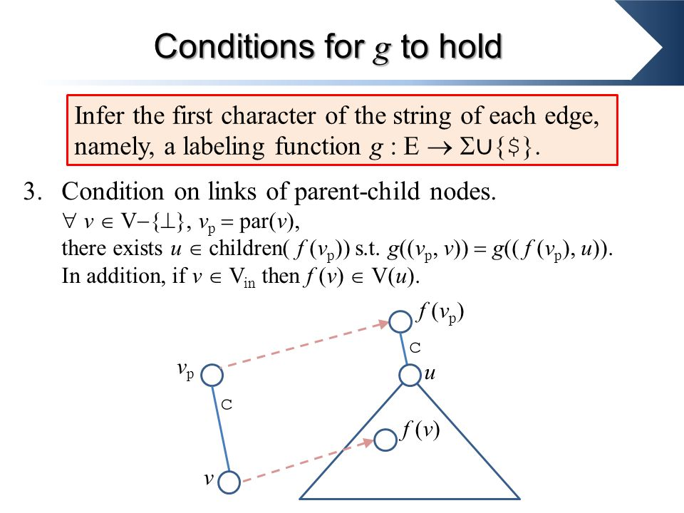 3.Condition on links of parent-child nodes.