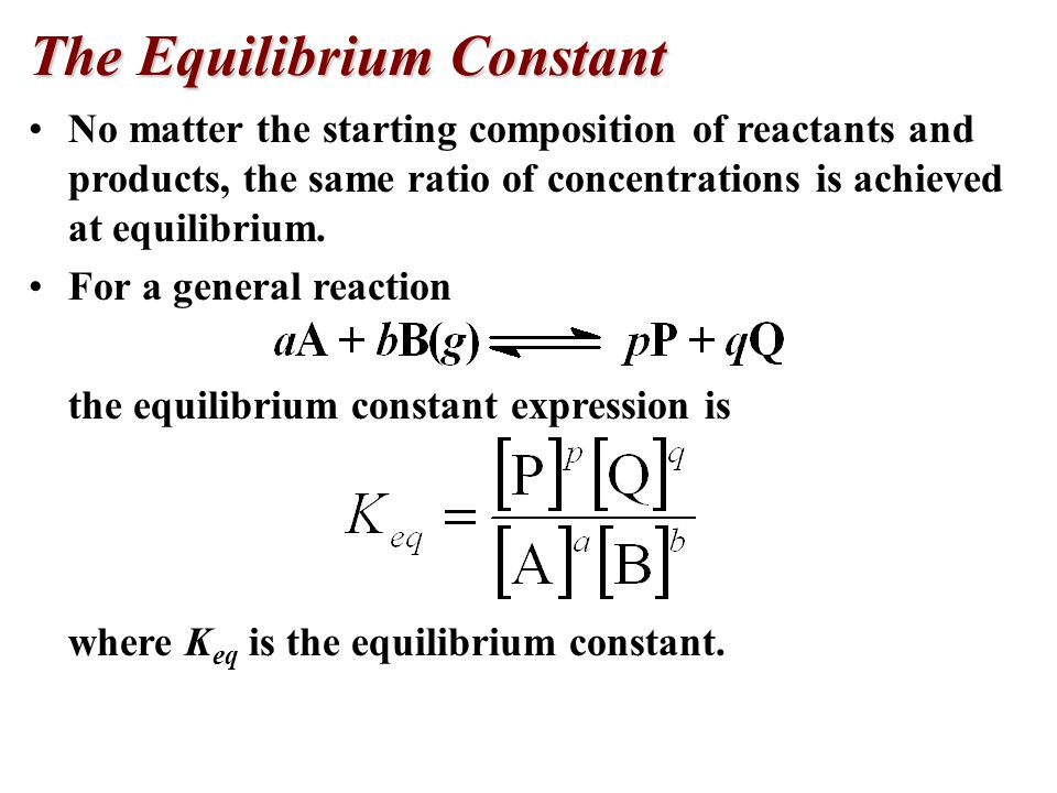 Equilibrium is a case where the reaction does not go to completion, but wavers back and forth.
