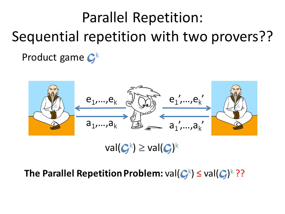 Parallel Repetition: Sequential repetition with two provers .