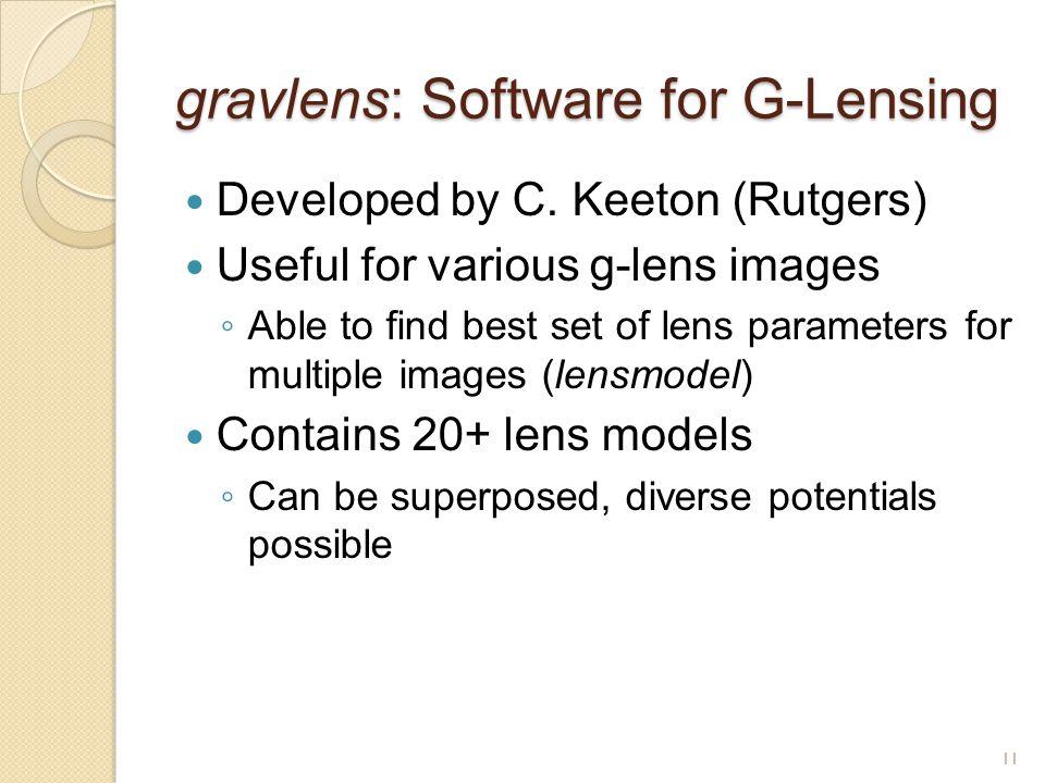 gravlens: Software for G-Lensing Developed by C.