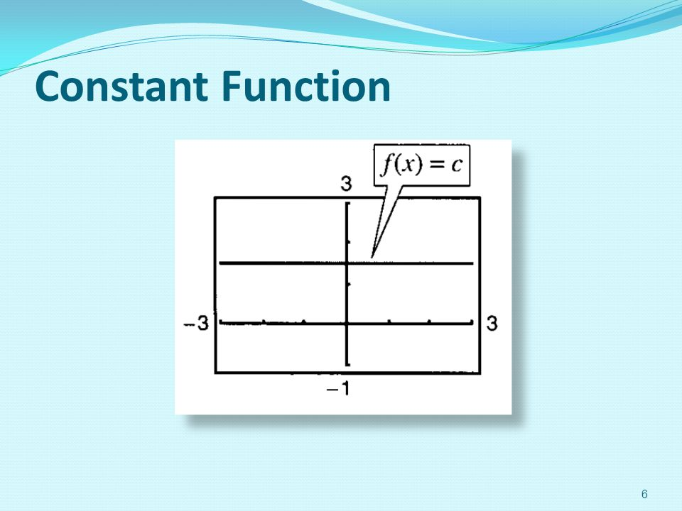 Constant Function 6