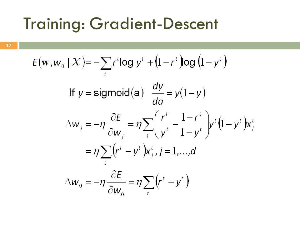 Training: Gradient-Descent 17