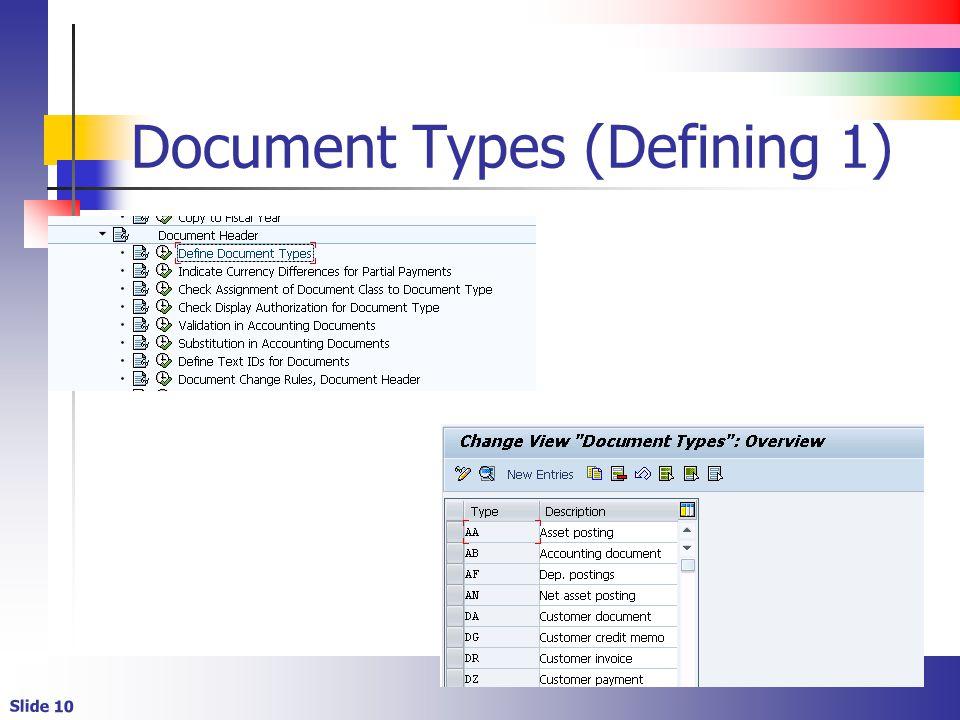 Slide 10 Document Types (Defining 1)