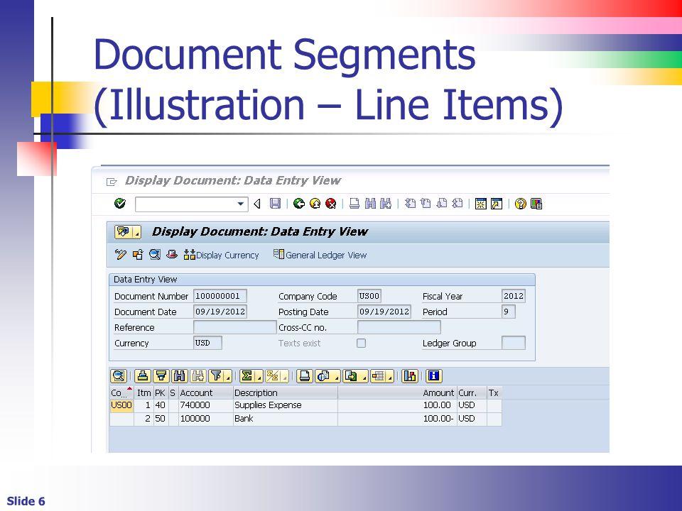 Slide 6 Document Segments (Illustration – Line Items)
