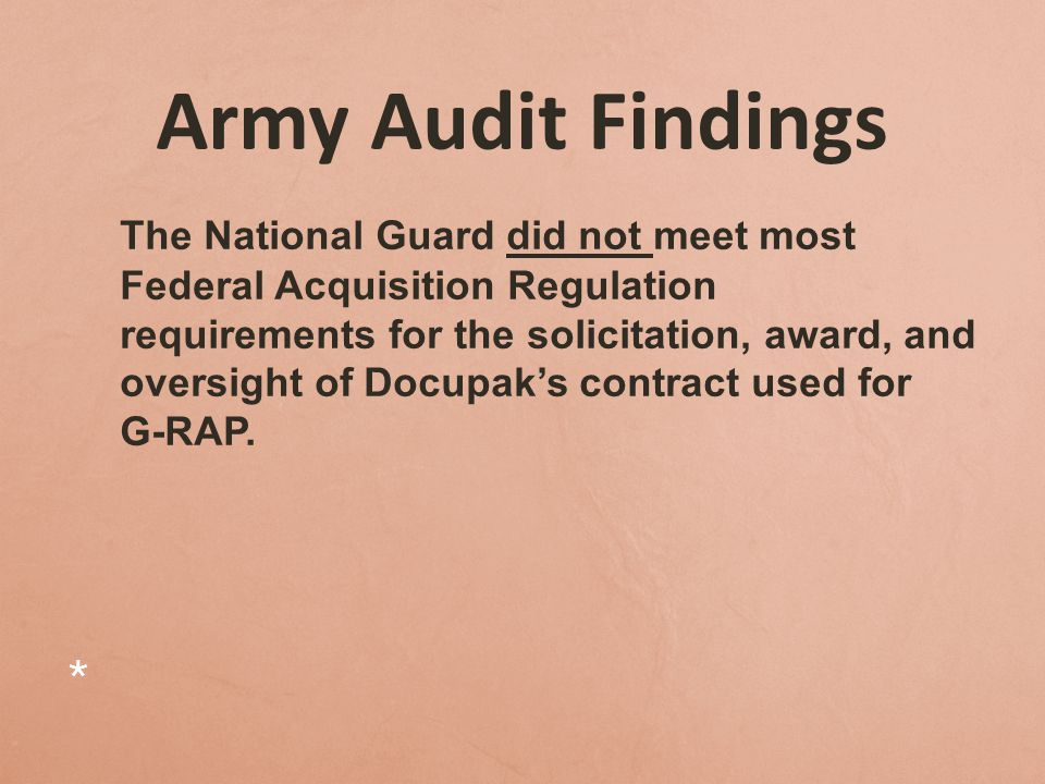 Also… Docupak was improperly paid $9.3 million for referral payment fees that weren't included in or authorized by the contracts.