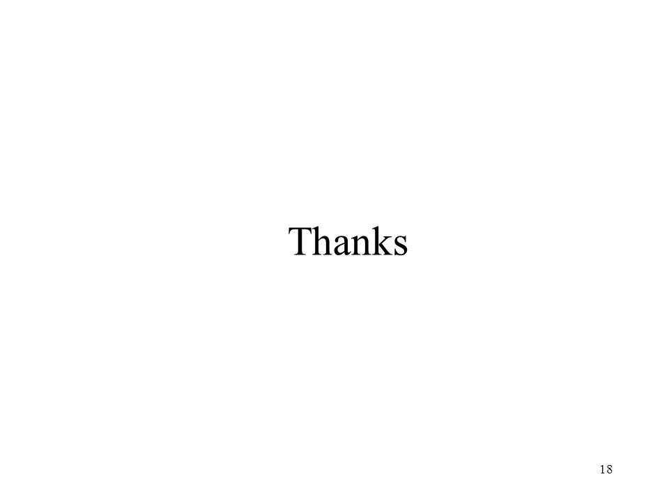 18 Thanks