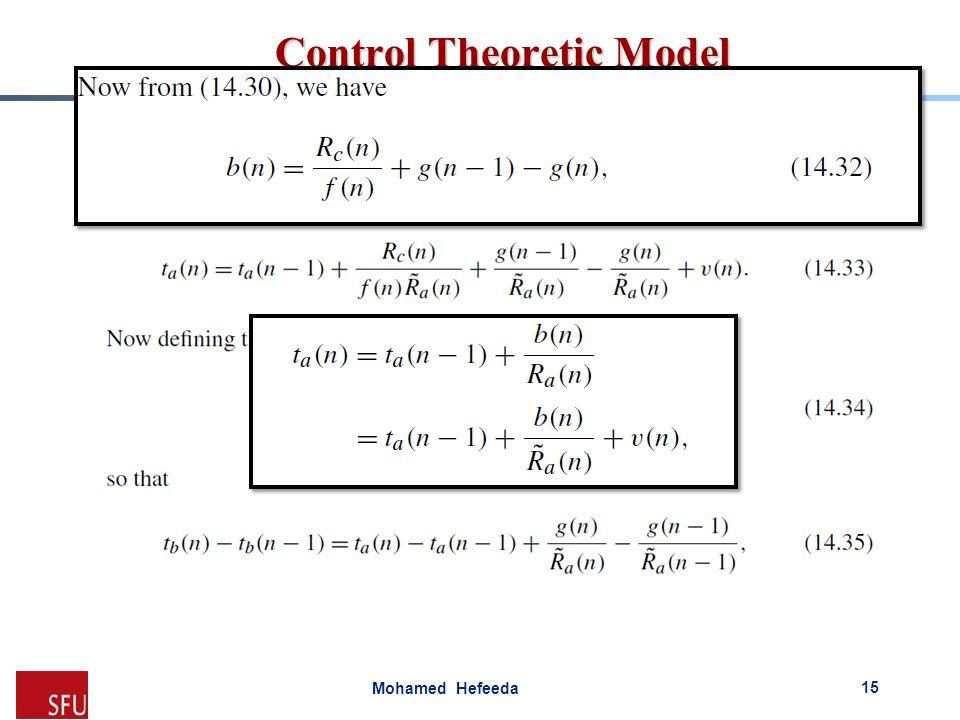 Mohamed Hefeeda Control Theoretic Model 15