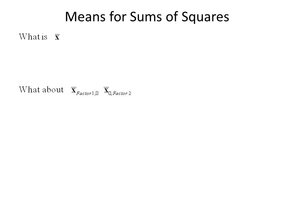 Means for Sums of Squares