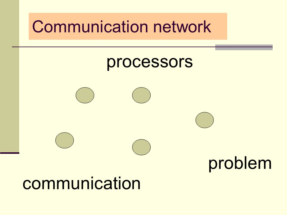 processors communication problem Communication network