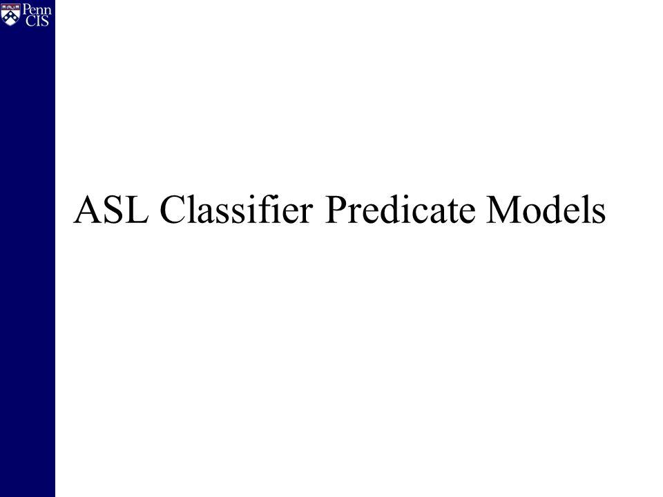 ASL Classifier Predicate Models