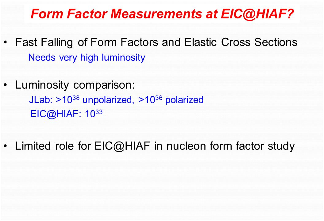 Form Factor Measurements at EIC@HIAF.