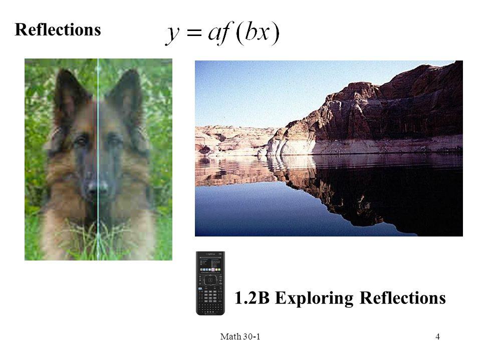 Reflections 4Math 30-1 1.2B Exploring Reflections