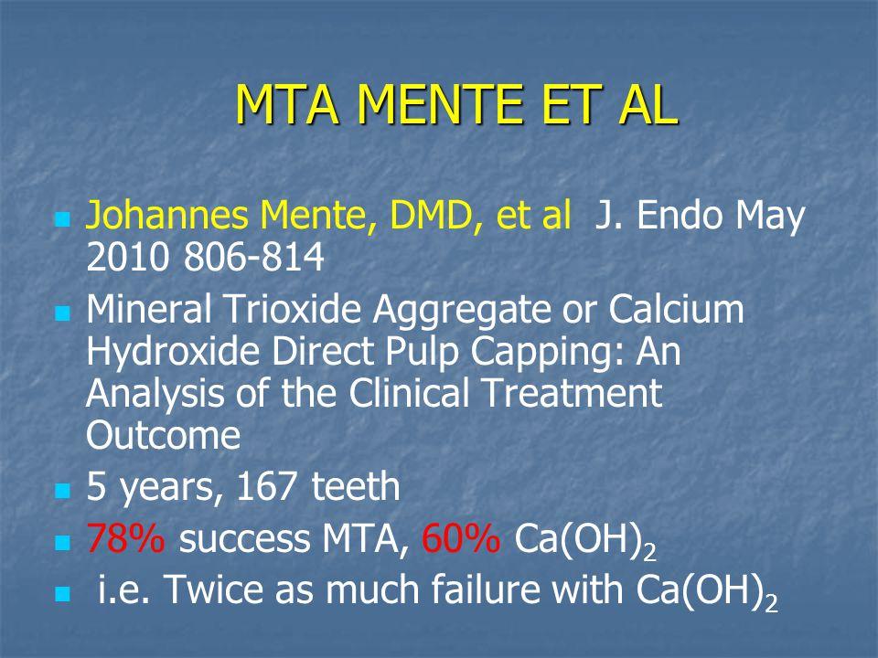 MTA MENTE ET AL MTA MENTE ET AL Johannes Mente, DMD, et al J.