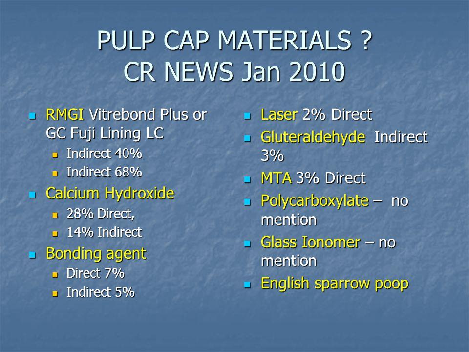 PULP CAP MATERIALS .