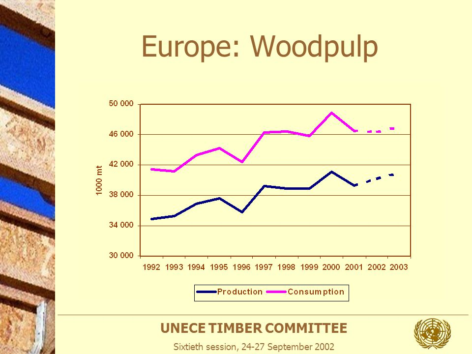 UNECE TIMBER COMMITTEE Sixtieth session, 24-27 September 2002 Europe: Woodpulp