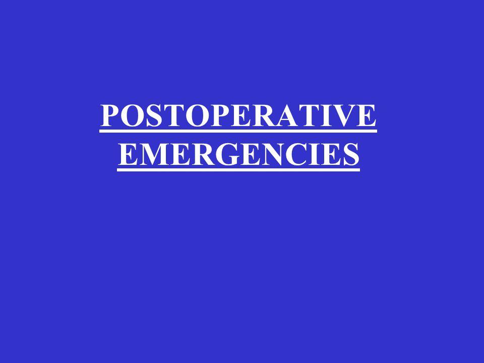 POSTOPERATIVE EMERGENCIES