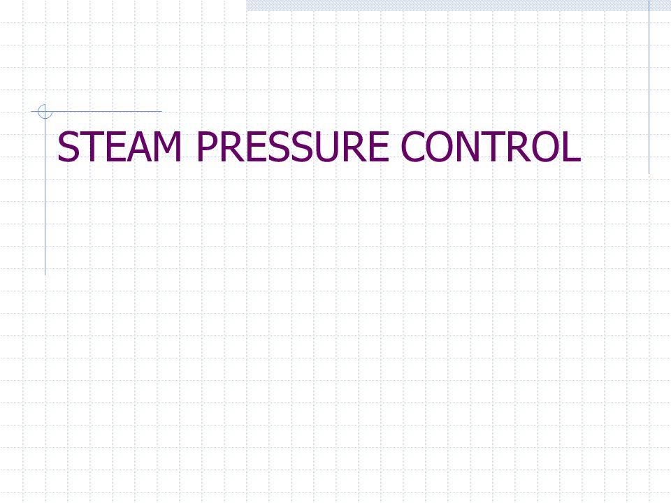 STEAM PRESSURE CONTROL