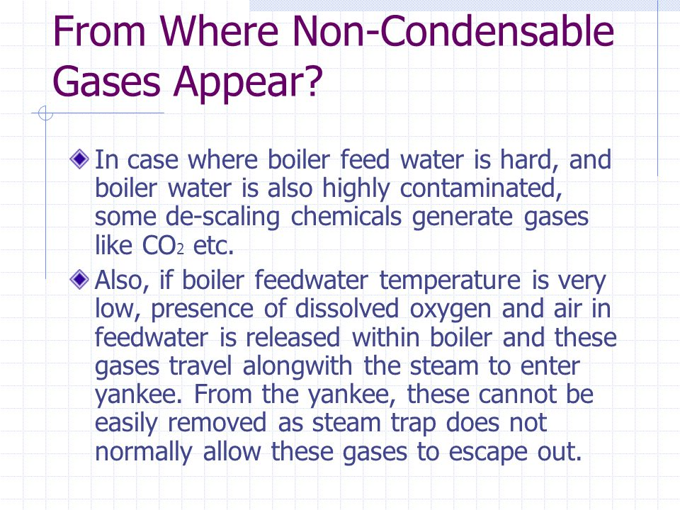From Where Non-Condensable Gases Appear.
