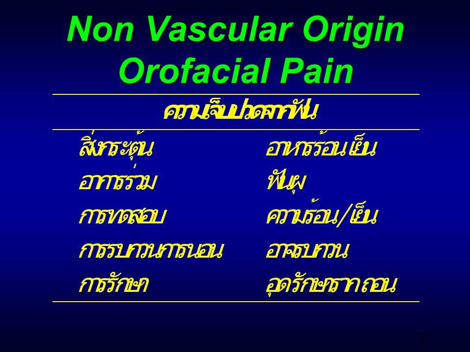 35 Non Vascular Origin Orofacial Pain