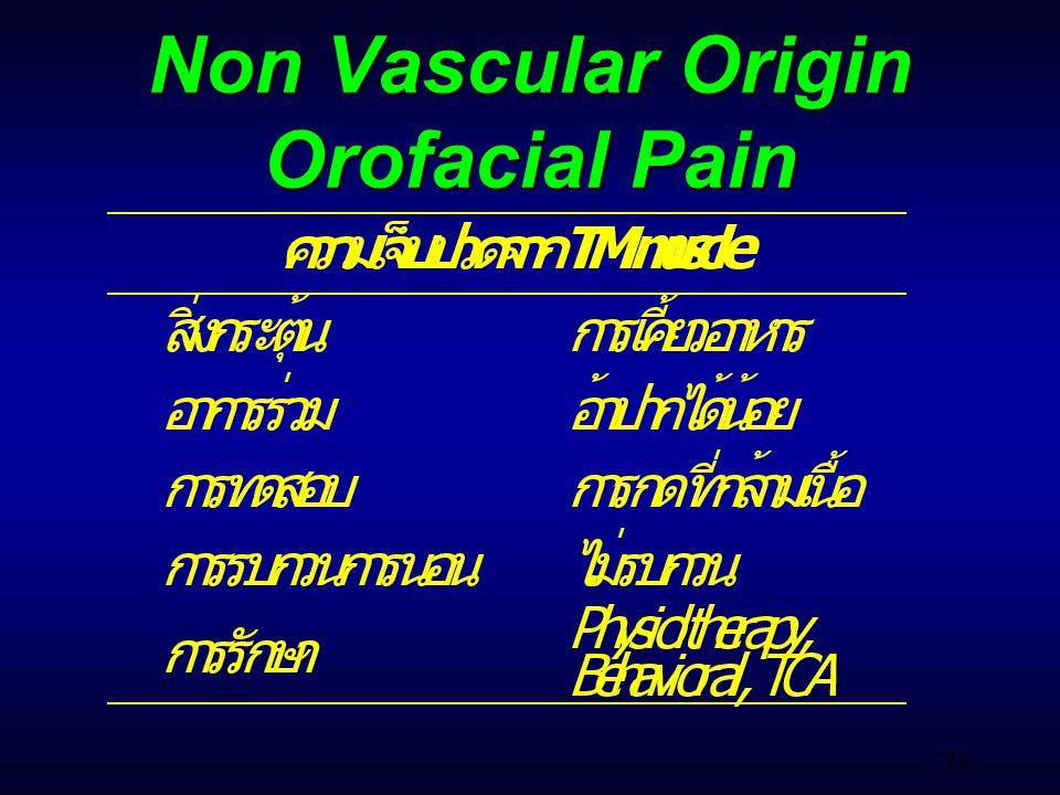38 Non Vascular Origin Orofacial Pain