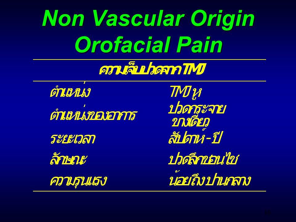 40 Non Vascular Origin Orofacial Pain