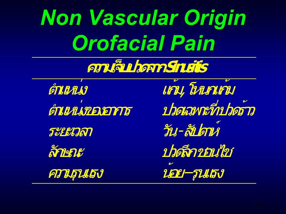 43 Non Vascular Origin Orofacial Pain