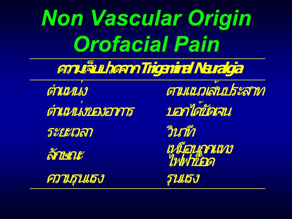 49 Non Vascular Origin Orofacial Pain