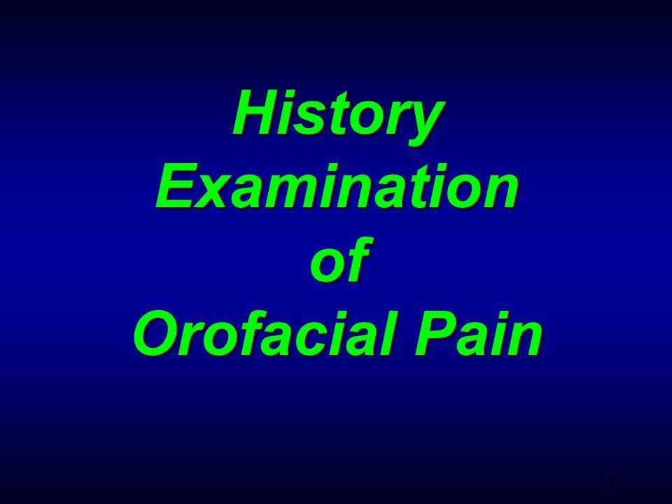 26 Pain for Intraoral Origin