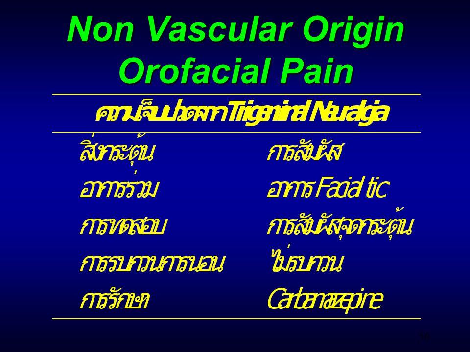 50 Non Vascular Origin Orofacial Pain