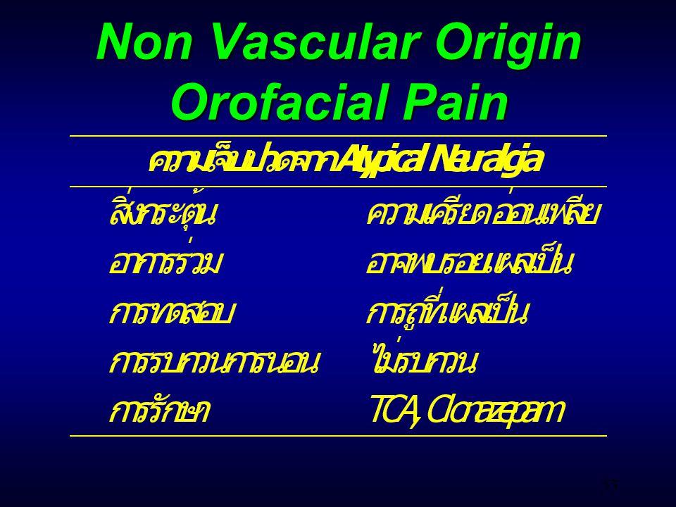 53 Non Vascular Origin Orofacial Pain