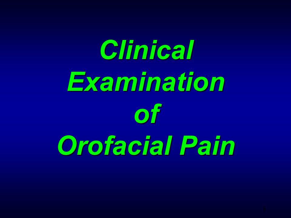 29 Pain for Intraoral Origin