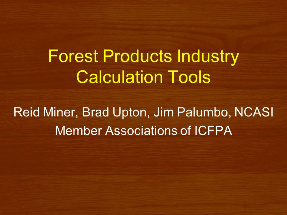 Greenhouse gas emissions - Pulp and paper mills - Sponsored by ICFPA Version 1.0 released 2001 Version 1.1 released 2005 Includes report and Excel ® spreadsheet Accepted for use under WRI/WBCSD GHG Protocol www.ghgprotocol.org
