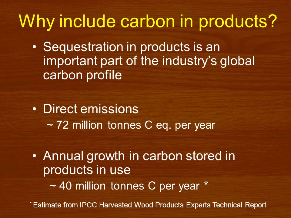 Why include carbon in products.