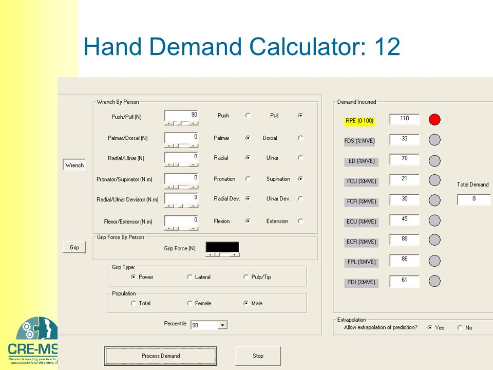 Hand Demand Calculator: 12