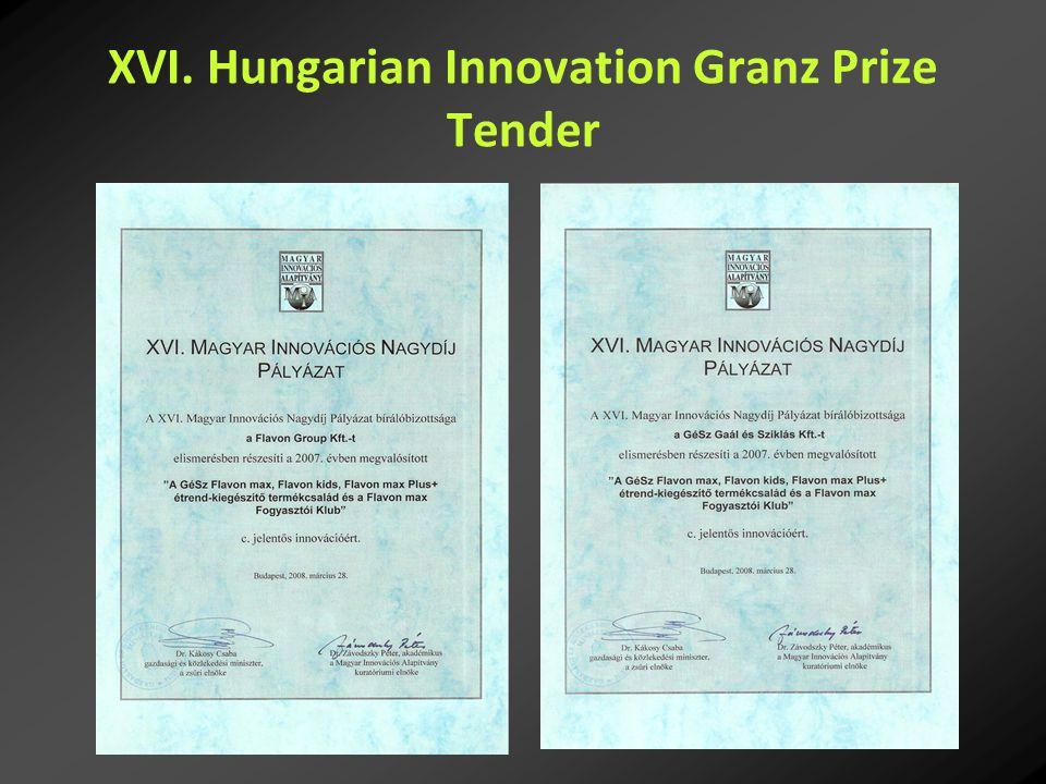 XVI. Hungarian Innovation Granz Prize Tender