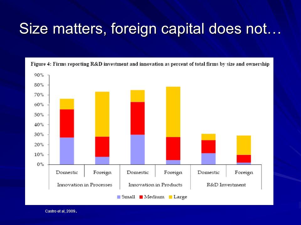 Size matters, foreign capital does not… Castro et al, 2009.