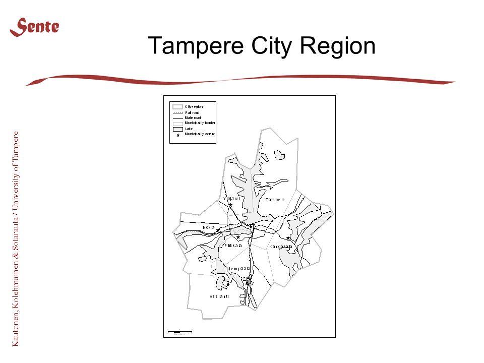 Kautonen, Kolehmainen & Sotarauta / University of Tampere Tampere City Region