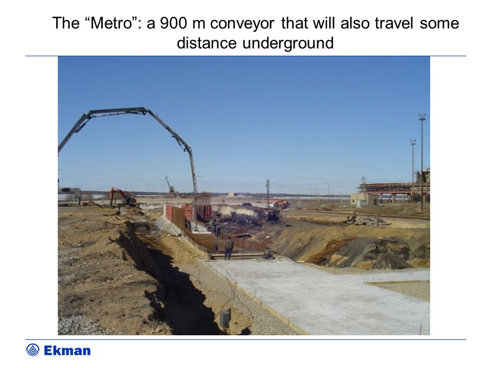 """The """"Metro"""": a 900 m conveyor that will also travel some distance underground"""