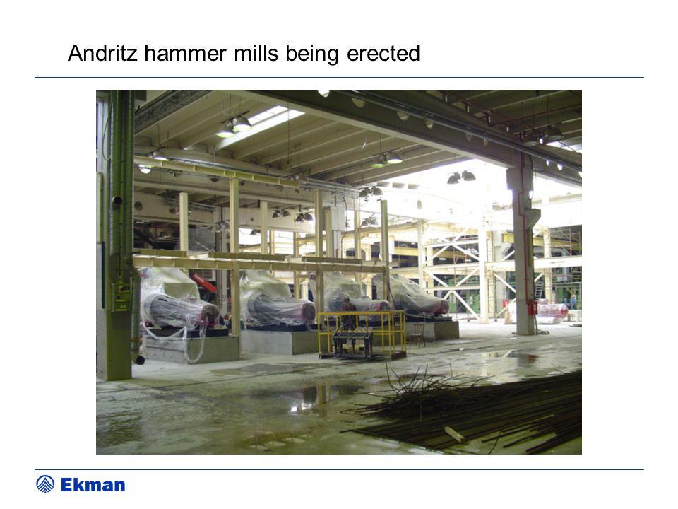 Andritz hammer mills being erected