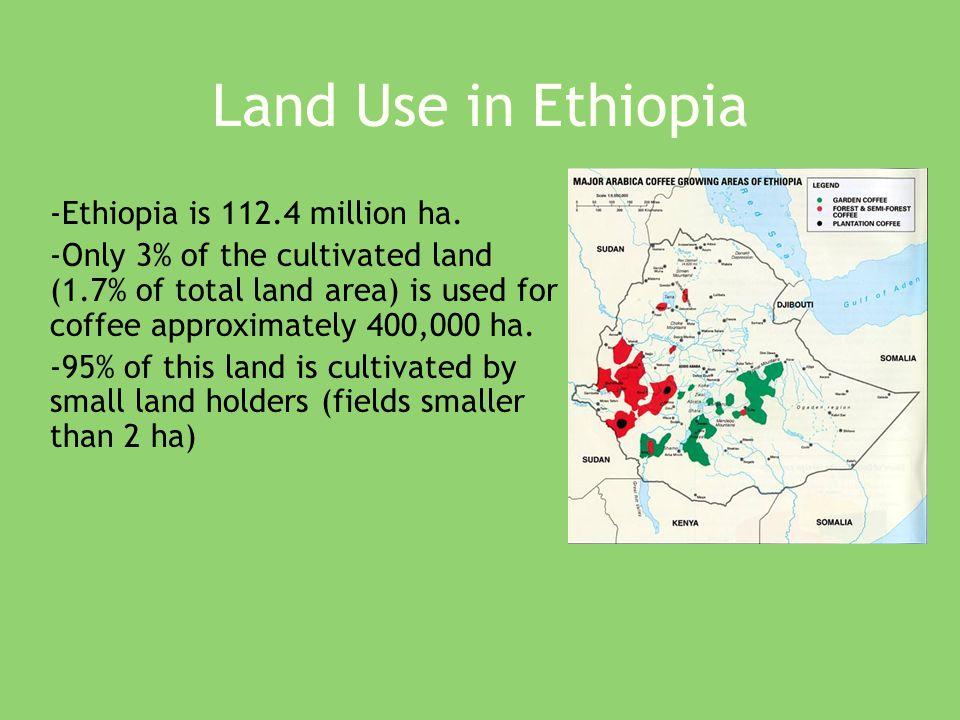 Land Use in Ethiopia -Ethiopia is 112.4 million ha.