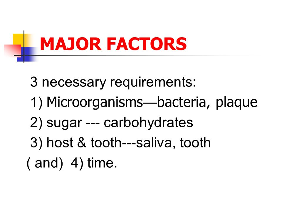 Role of bacteria There are many kinds of bacteria in normal oral cavity.
