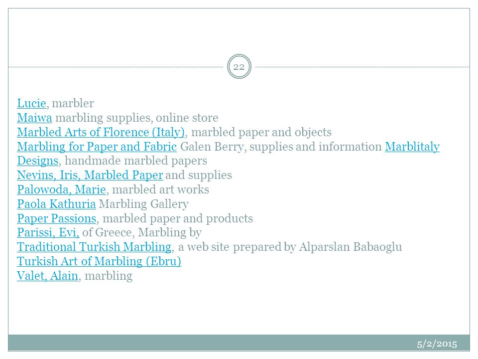 LucieLucie, marbler Maiwa marbling supplies, online store Marbled Arts of Florence (Italy), marbled paper and objects Marbling for Paper and Fabric Ga
