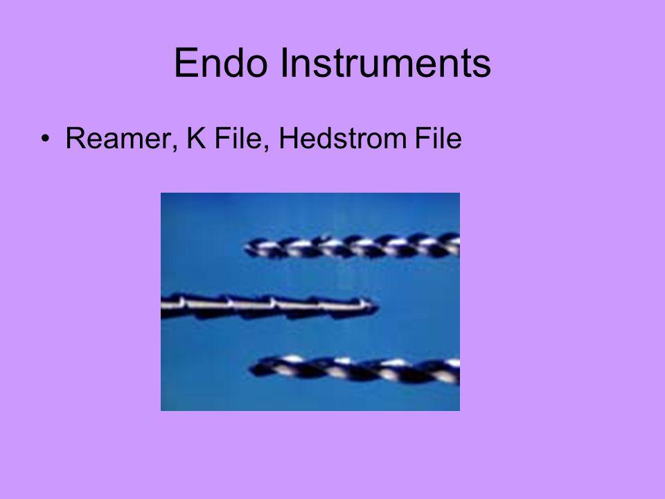 Endo Instruments Reamer, K File, Hedstrom File