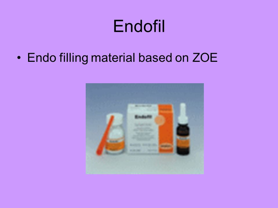 Endofil Endo filling material based on ZOE