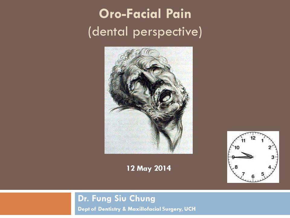 Oro-Facial Pain (dental perspective) Dr.