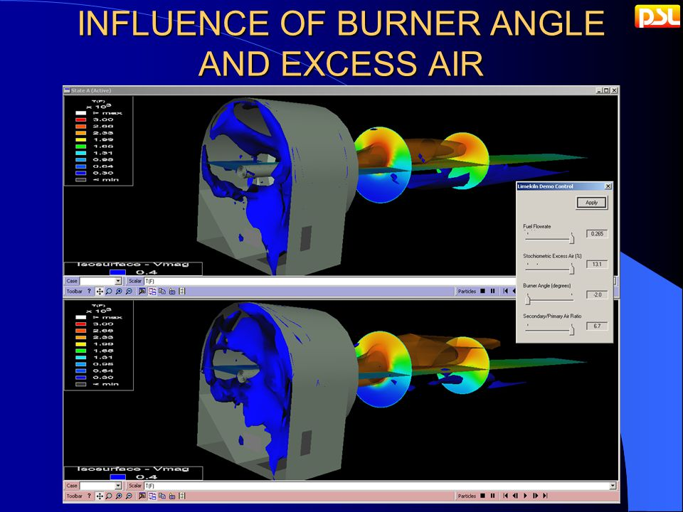 INFLUENCE OF BURNER ANGLE AND EXCESS AIR