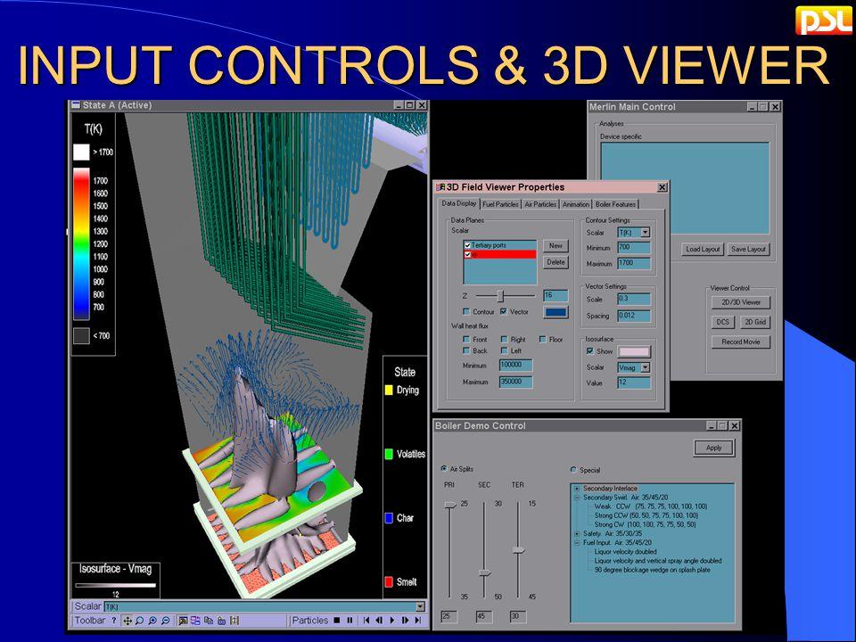 INPUT CONTROLS & 3D VIEWER