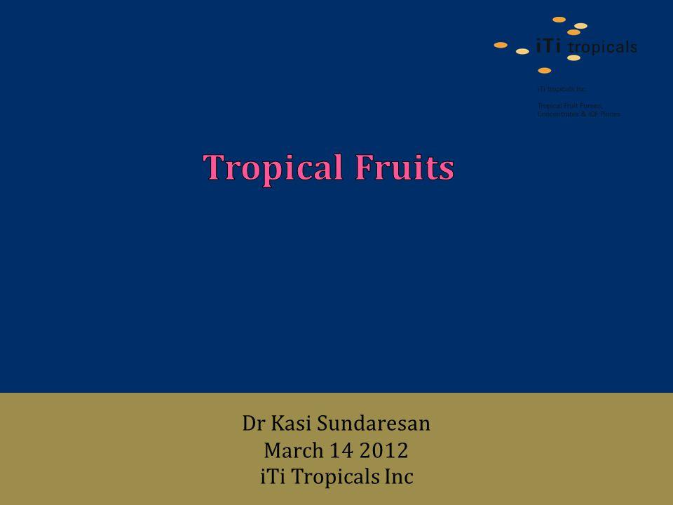 Dr Kasi Sundaresan March 14 2012 iTi Tropicals Inc