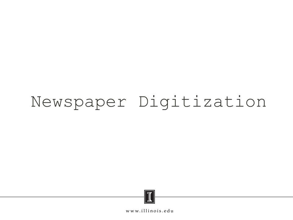 Newspaper Digitization