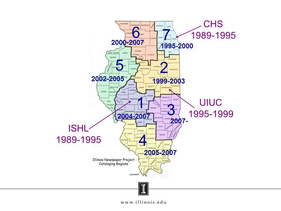 4 2 5 1 7 6 3 2000-2007 1995-2000 2002-2005 1999-2003 2004-2007 2007- 2005-2007 CHS 1989-1995 UIUC 1995-1999 ISHL 1989-1995